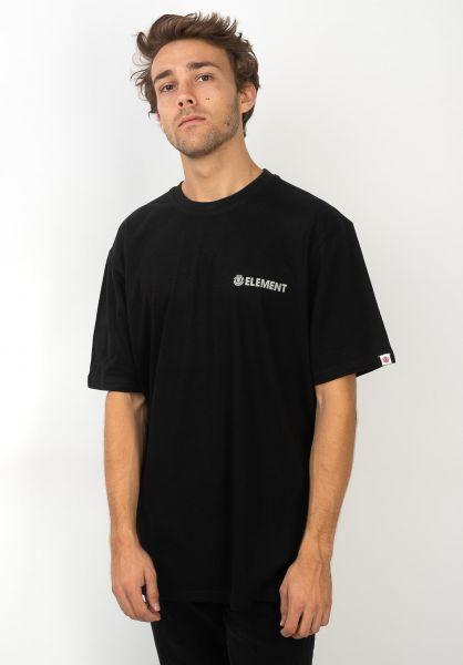 Element T-Shirts Blazin Chest flintblack vorderansicht 0320483