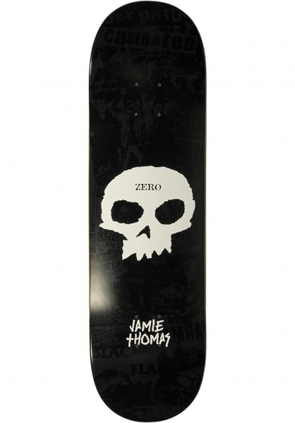 Zero Skateboard Decks Thomas Signature Single Skull black vorderansicht 0261068