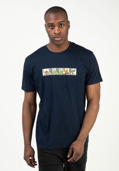 Loose Skateboard Co. T-Shirts Alphabet navy vorderansicht 0324084