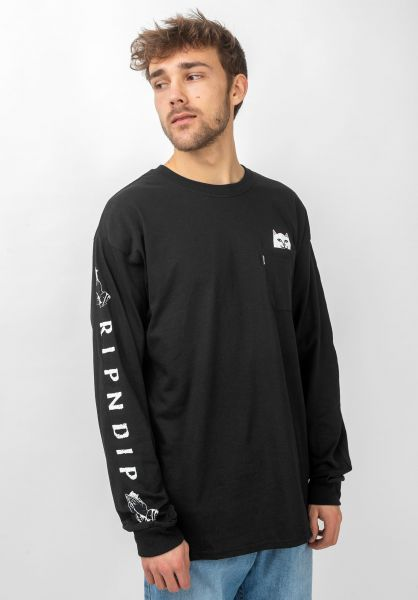 Rip N Dip Longsleeves Lord Nermal  Pocket black vorderansicht 0382771