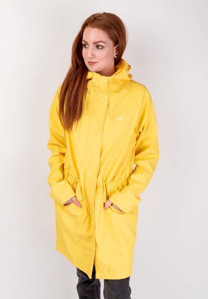 Cleptomanicx Übergangsjacken Greta Rain yellow vorderansicht 0504339