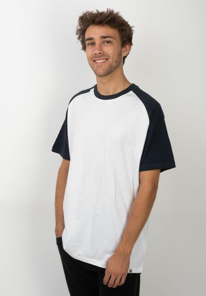 Element T-Shirts Basic Raglan eclipsenavy-white vorderansicht 0396148