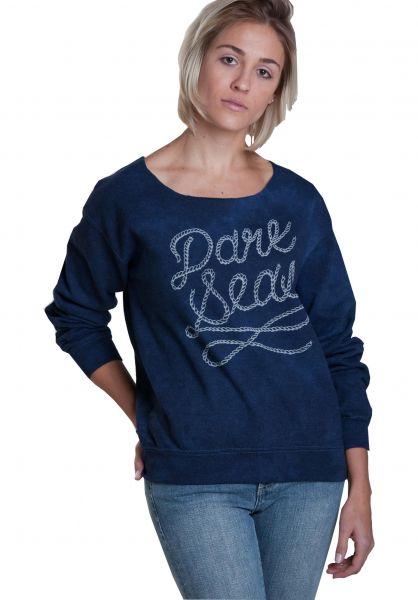 Dark Seas Sweatshirts und Pullover DS Rope Script Girls indigo-stain Vorderansicht