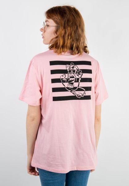 Santa-Cruz T-Shirts Strobe Hand candypink vorderansicht 0399633