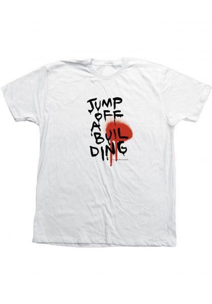 Toy-Machine T-Shirts Jump off a Building white vorderansicht 0322130