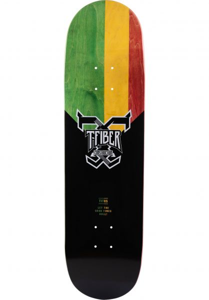 TITUS Skateboard Decks Rasta T-Fiber black-rasta vorderansicht 0261205