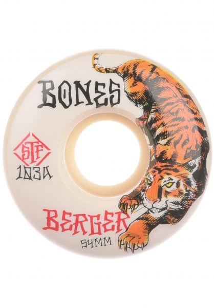 Bones Wheels Rollen STF Berger The Hunter 103A V3 Slims white vorderansicht 0135358