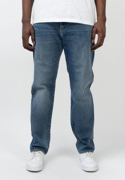Carhartt WIP Jeans Pontiac Pant bluemidwornwash vorderansicht 0269077