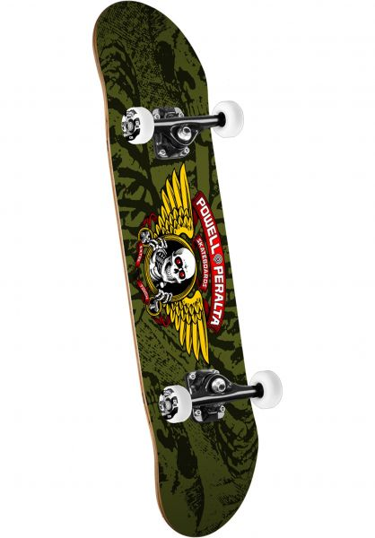Powell-Peralta Skateboard komplett Winged Ripper olive vorderansicht 0161728