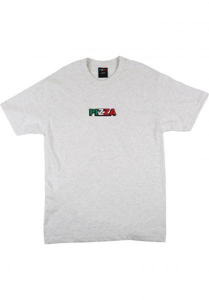 Pizza Skateboards T-Shirts Tri Logo grey vorderansicht 0322329