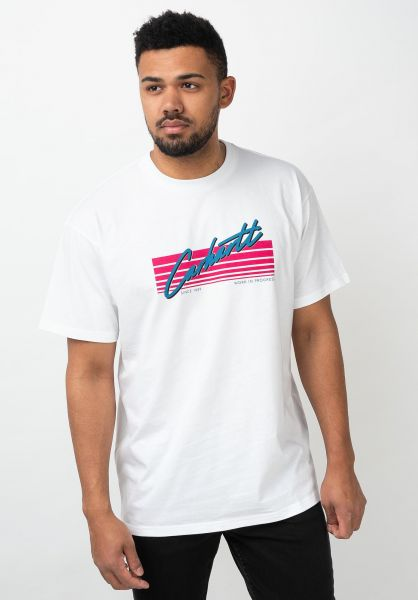 Carhartt WIP T-Shirts Horizon Script white vorderansicht 0321234