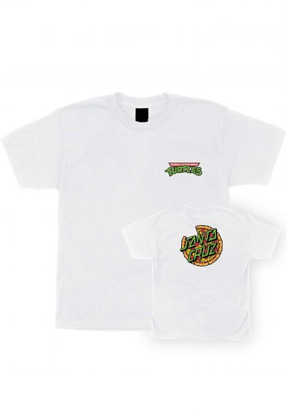 Santa-Cruz T-Shirts TMNT Pizza Dot Youth white vorderansicht 0399651