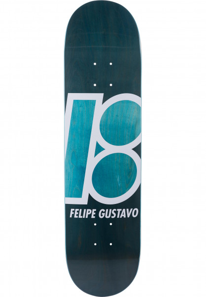 Plan-B Skateboard Decks Felipe Stained blue Vorderansicht