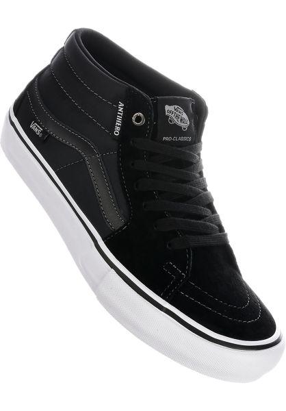 0f4878db0d Vans Alle Schuhe x Anti Hero Sk8-Mid Pro grosso-black vorderansicht 0604603