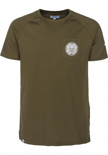 Reell T-Shirts Universe Pocket olive Vorderansicht