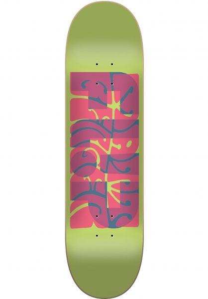 Flip Skateboard Decks Berger Psyche green Vorderansicht
