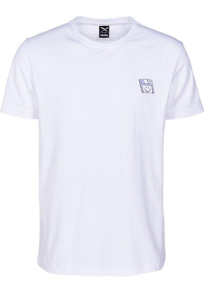 iriedaily T-Shirts Floppy Disk white vorderansicht 0399728
