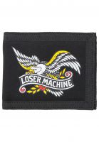 loser-machine-portemonnaie-glorybound-bifold-wallet-black-vorderansicht