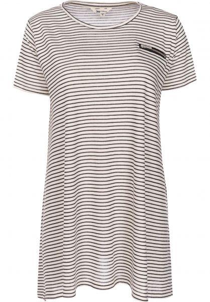Shisha Kleider Fluddern stripedblack-creme Vorderansicht