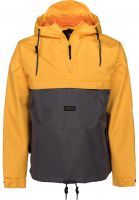 Turbokolor Windbreaker Freitag grey-yellow Vorderansicht