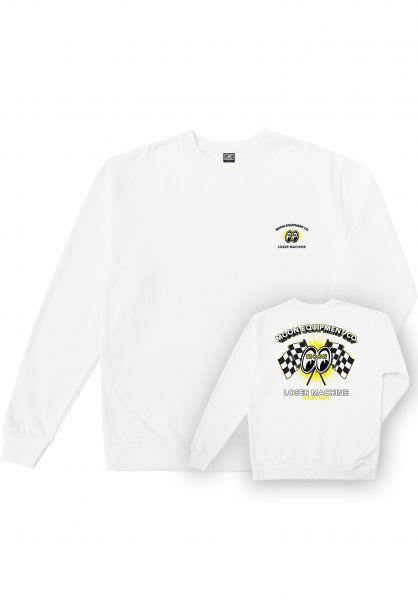 Loser-Machine Sweatshirts und Pullover x Mooneyes Fastet Lap white vorderansicht 0383692