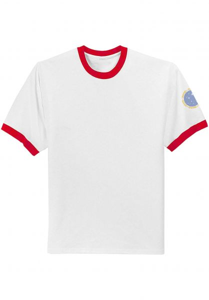 State T-Shirts x WKND Space Cadet Ringer white vorderansicht 0383336