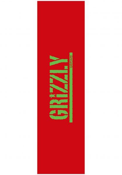 Grizzly Griptape Stamped Necessities red vorderansicht 0142650