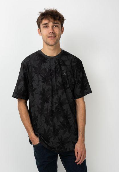 Mazine T-Shirts Rothes Allover blackmelange vorderansicht 0322283