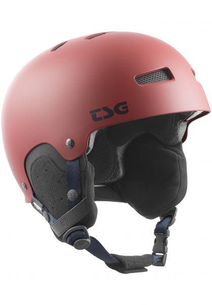 TSG Snowboardhelme Gravity Solid Color satin dark red vorderansicht 0750089