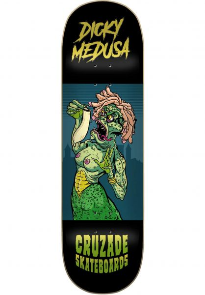 Cruzade Skateboard Decks Dicky Medusa Double Tail black vorderansicht 0266041