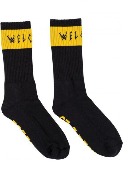 Welcome Socken Summon black-yellow Vorderansicht