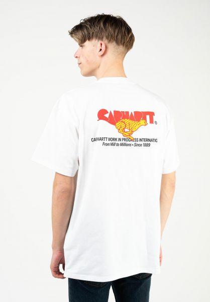 Carhartt WIP T-Shirts Runner white vorderansicht 0324141