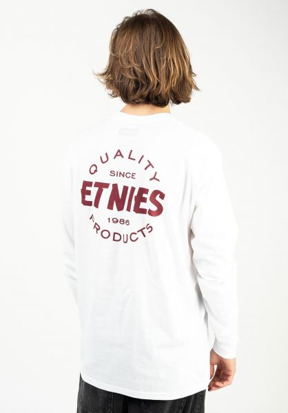 etnies Longsleeves Quality Control white-burgundy vorderansicht 0384012