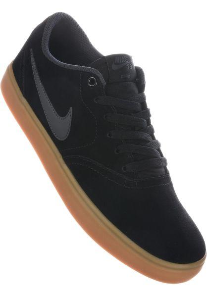 Nike SB Alle Schuhe Check Solarsoft black-anthracite-gum vorderansicht 0604054