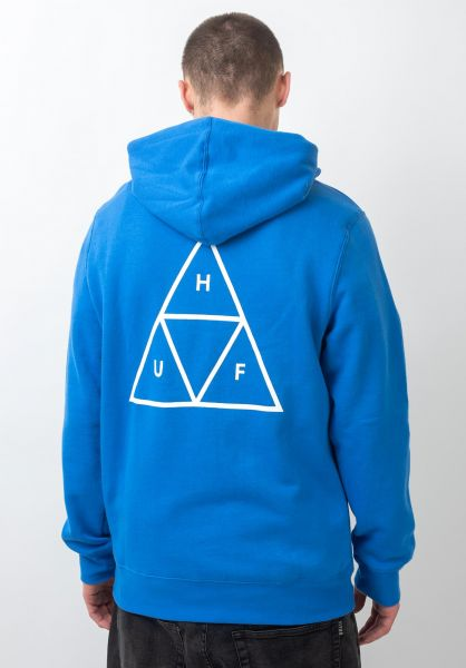HUF Hoodies Triple Triangle nebulasblue vorderansicht 0443406