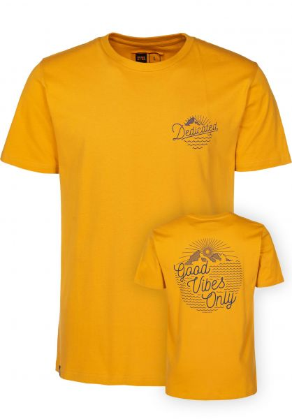 Dedicated T-Shirts Stockholm Outdoor Vibes mustard vorderansicht 0399384