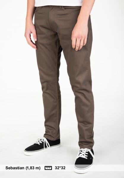 Reell Chinos und Stoffhosen Indie grey-brown Vorderansicht 0204083
