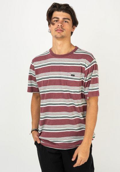RVCA T-Shirts Ventura Stripe merlot vorderansicht 0322457