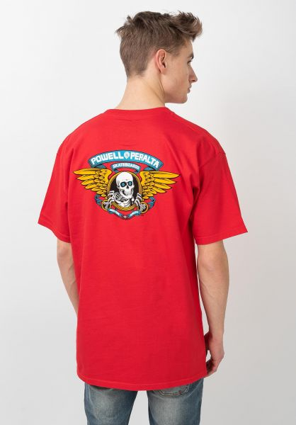 Powell-Peralta T-Shirts Winged Ripper red vorderansicht 0360934