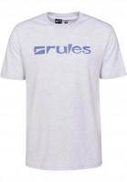 Rules T-Shirts Basic lightheathergrey-purple Vorderansicht