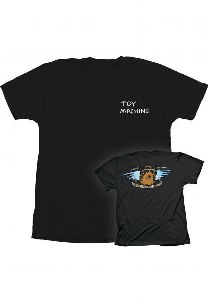 Toy-Machine T-Shirts All Hail 20 black vorderansicht 0323479