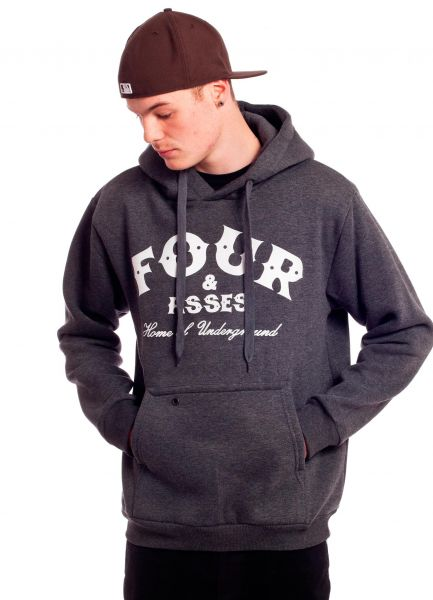 Fourasses Hoodies Home darkgrey Vorderansicht