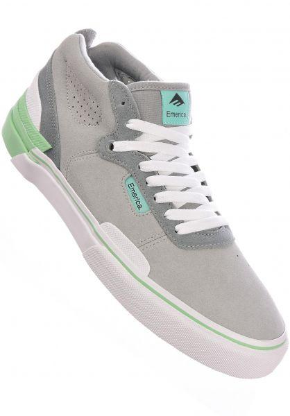 Emerica Alle Schuhe Pillar grey-white-green vorderansicht 0604892