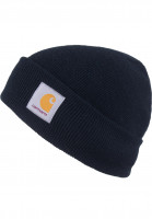 Carhartt-WIP-Muetzen-Short-Watch-Hat-black-Vorderansicht