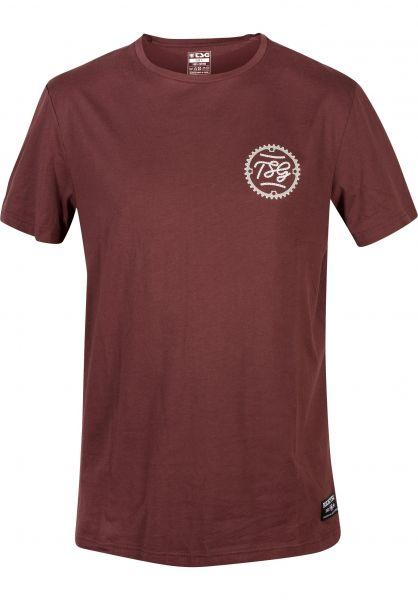 TSG T-Shirts Cyrcle oxblood vorderansicht 0392420