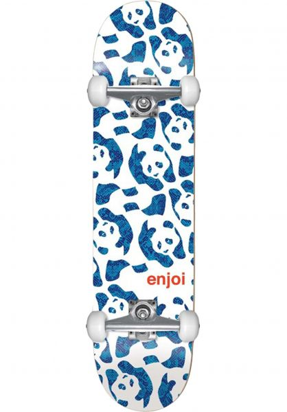 Enjoi Skateboard komplett Repeater white-blue vorderansicht 0162042