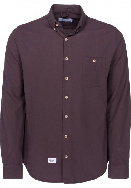 Reell Hemden langarm Brushed Shirt purple Vorderansicht