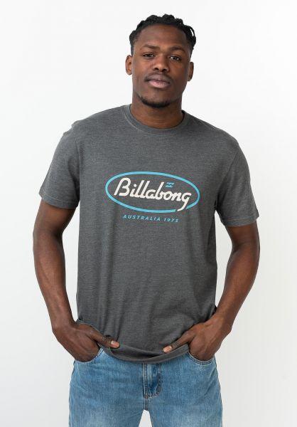 Billabong T-Shirts State Beach darkheather vorderansicht 0321594