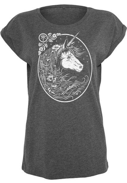Rebel Rockers T-Shirts Unitrash Girls charcoal-heather Vorderansicht 0399033