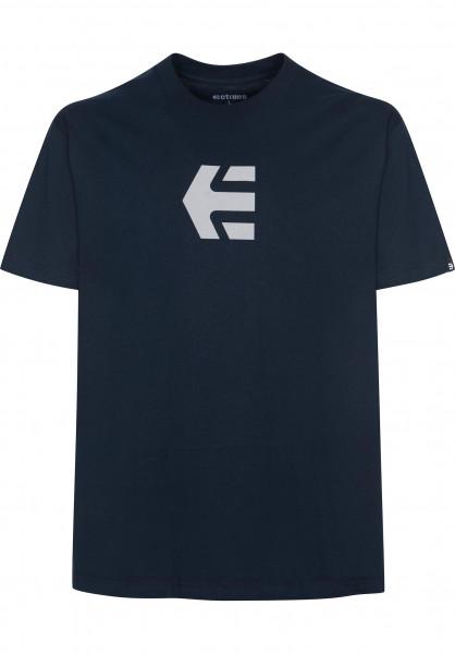 etnies T-Shirts Icon Mid navy Vorderansicht